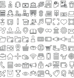 Set of business outline icons for design vector