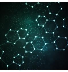 Futuristic dna abstract molecule vector