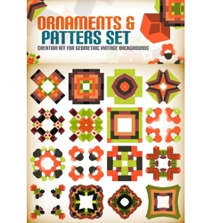 Abstract geometric vintage retro shapes for vector