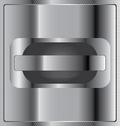 Opened with iron shine on steel honeycomb vector