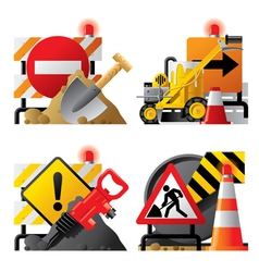Roadwork icons vector