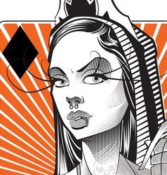 Queen gold vector