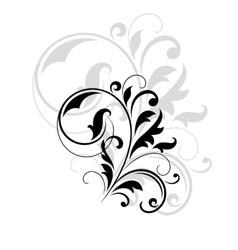 Decorative floral motif vector