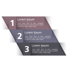 Modern design template with three elements vector