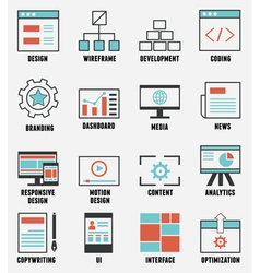 Set of e-commerce and internet service icons vector