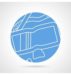 Round blue icon for diving mask vector