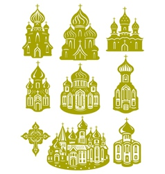 Church orthodox vector