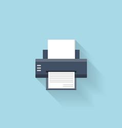 Flat printer web internet icon vector