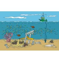 Ocean and underwater world vector