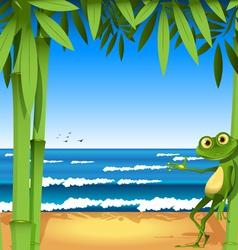 Holiday frog vector