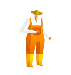Man in dungaree vector