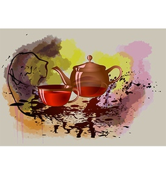 Evening tea vector