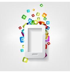 Smartphone icon cellphone application button vector