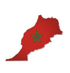 Morocco africa map flag vector