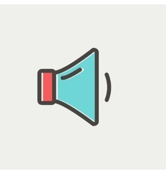 Low speaker volume thin line icon vector