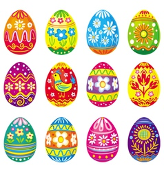 Collection of eggs vector