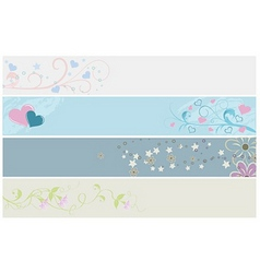 Spring web banners vector