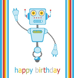 Birthday robot vector
