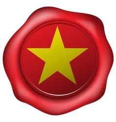 Wax seal with the vietnam flag vector