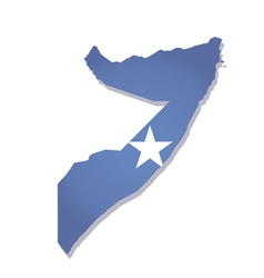Somalia africa map flag vector