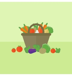 Card with vegetables in flat style vector