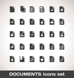 Documents icon set vector