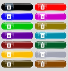 Recycle bin reuse or reduce icon sign set from vector