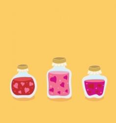 Valentine jam jars vector