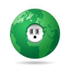 Earth power usa vector