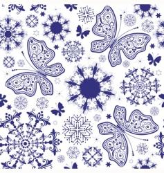 Seamless white violet christmas wallpaper vector