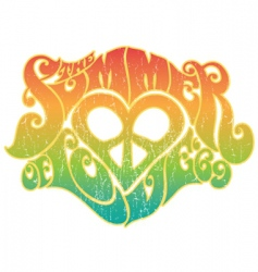 Summer of love vector