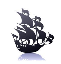 illustration of cool silhouette of retro sa vector
