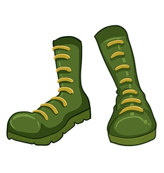 A pair of green boots vector