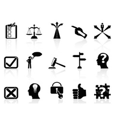 Life decisions icons set vector
