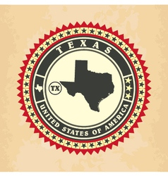 Vintage label-sticker cards of texas vector