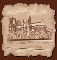 Notre dam in paris vector