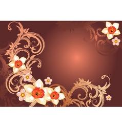 Elegant floral backgorund vector