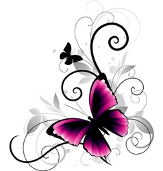 Butterfly decorative vector
