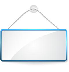 Realistic hanging panel billboard banner vector