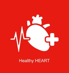 Medical logo of healthy heart vector