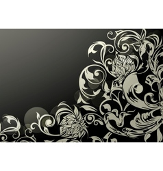 Wallpaper decor on black vector