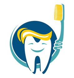 Dental hygiene icon vector