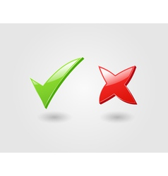 Check and cross marks vector