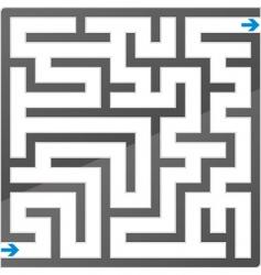 Gray maze vector