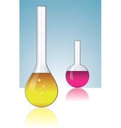Laboratory glassware vector