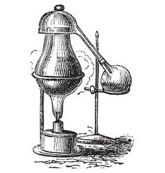 Alembic distillation vintage engraving vector