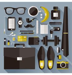 Modern businessman essentials vector