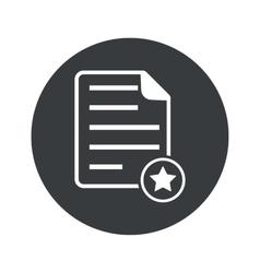 Monochrome round favorite document icon vector