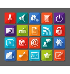 New app icons set in flat vector