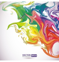 Colorful stains of paint abstract background vector